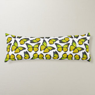 Yellow Monarch Butterfly Pattern Body Cushion
