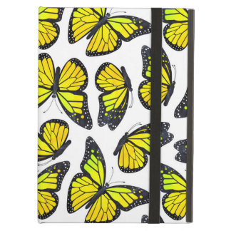 Yellow Monarch Butterfly Pattern iPad Air Case