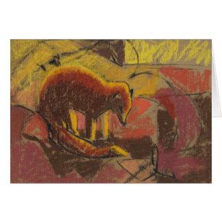 Yellow mongoose - Art Card
