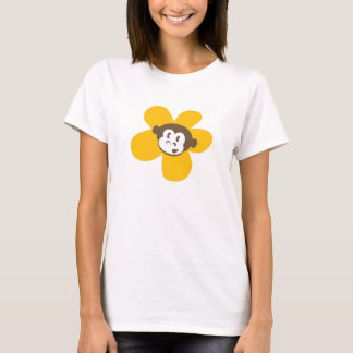 Yellow Monkey Cards Flower T-Shirt