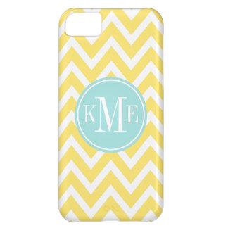 Yellow Monogram Chevron Stripe | Apple iPhone 5 iPhone 5C Case