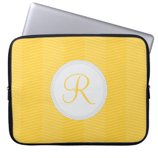 Yellow Monogram Laptop Sleeve