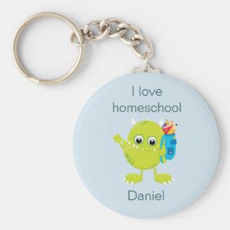 Yellow Monster Homeschool Key Ring