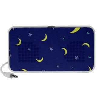 Yellow Moon Blue Night Stars iPod Speakers