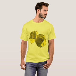 Yellow Morning Glories on a T-Shirt