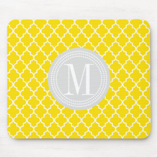Yellow Moroccan Tiles Lattice Personalized Mouse Pad