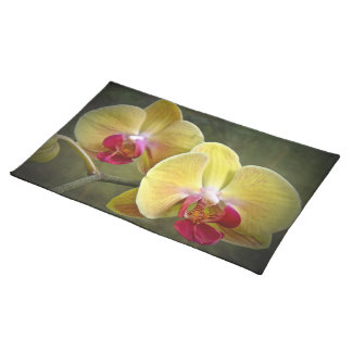 Yellow Moth Orchids - Phalaenopsis Placemat