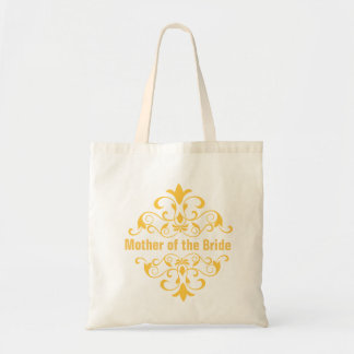Yellow Mother of the Bride Wedding Tote Bag
