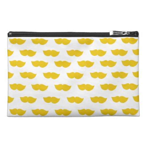 Yellow Moustaches Travel Accessory Bags