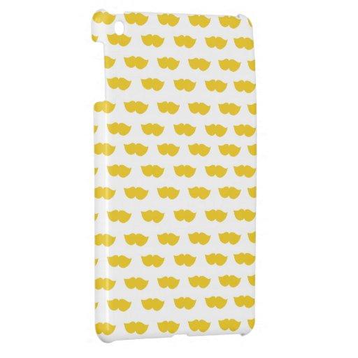 Yellow Moustaches iPad Mini Cover