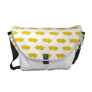 Yellow Moustaches Messenger Bag