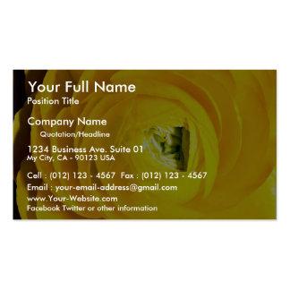 Yellow mum, close-up business card template
