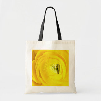 Yellow mum, close-up  flowers canvas bags