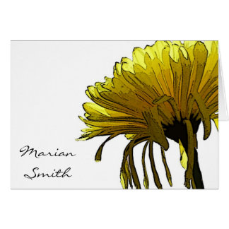 Yellow Mum  - Placecard Note Card