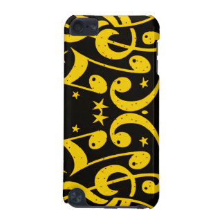 Yellow music notes_ iPod touch (5th generation) covers