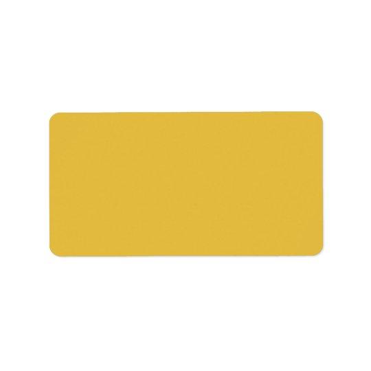 Yellow mustard address label