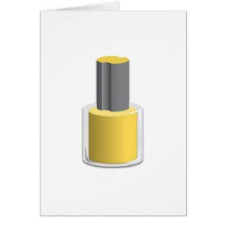 Yellow Nail Polish Cards
