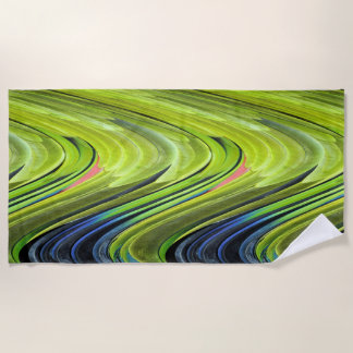 Yellow-Naped Amazon Parrot Feathers by STaylor Beach Towel