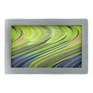Yellow-Naped Amazon Parrot Feathers by STaylor Rectangular Belt Buckles