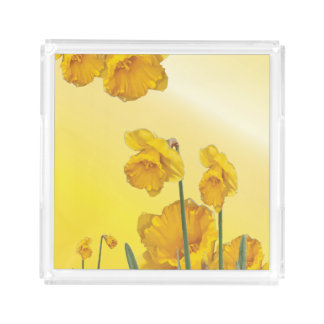 Yellow Narcissus Daffodil  Retro Vintage look