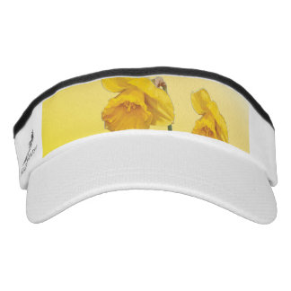 Yellow Narcissus Daffodil  Retro Vintage look Visor