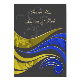 """yellow navy""  wedding ThankYou Cards Invitations"
