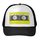 Yellow Neon Customisable Cassette Tape Cap