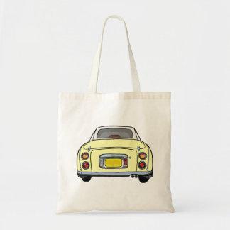 Yellow Nissan Figaro Car Tote Bag