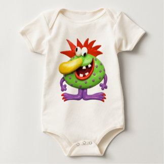 Yellow Nose Monster Baby Bodysuit