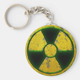 Yellow Nuke Basic Round Button Key Ring