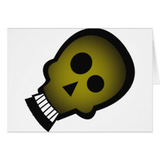 YELLOW NUTTY SKULL GREETING CARD