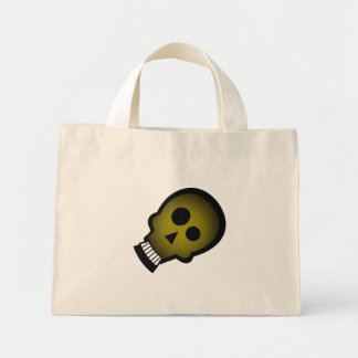 YELLOW NUTTY SKULL CANVAS BAG