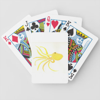 Yellow Octopus Bicycle Playing Cards