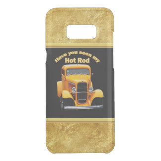 Yellow old roadster with gold black foill design uncommon samsung galaxy s8 plus case