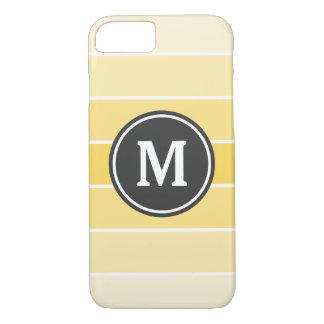 Yellow Ombre Stripe Monogram iPhone 7 Case