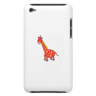 Yellow on red giraffe barely there iPod covers