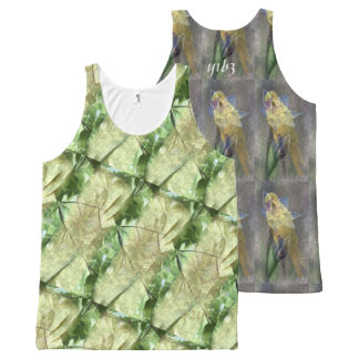 YELLOW ONE and GREEN TWO All-Over Print Singlet