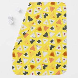 Yellow ONIGIRI Baby Blanket