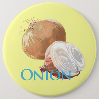 Yellow Onion 6 Cm Round Badge