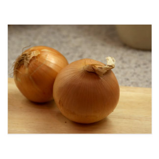 Yellow Onions Vegetables Postcard