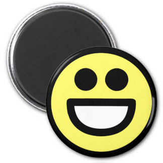 Yellow Open Mouth Smiley Face Magnet