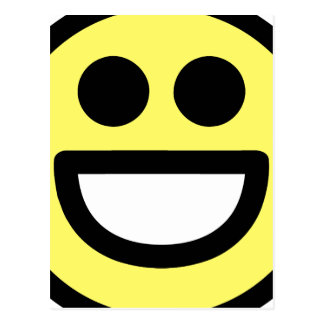 Yellow Open Mouth Smiley Face Postcard
