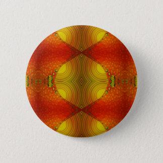 Yellow Orange Abstract 6 Cm Round Badge
