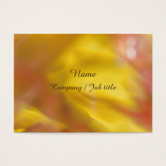 Yellow Orange Abstract Energic Vital Businesscard