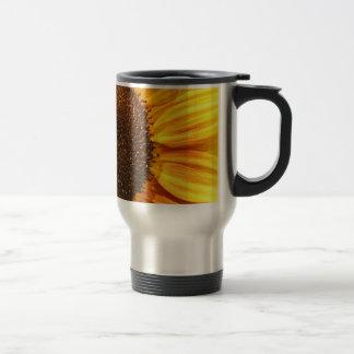 Yellow, Orange, and Brown Sunflower Travel Mug