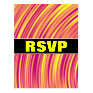 Yellow, Orange and Purple Curved Ripples Pattern Postcard