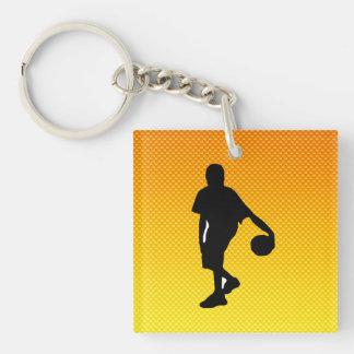 Yellow Orange Basketball Acrylic Key Chains