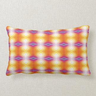 Yellow orange bright colors pillow. lumbar cushion