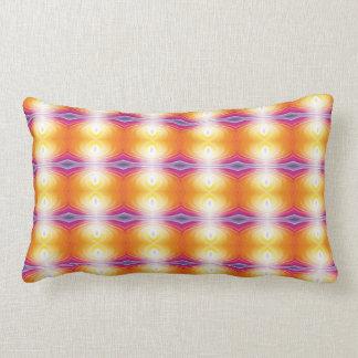 Yellow orange bright colours pillow. lumbar cushion