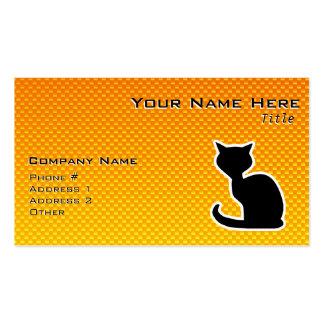 Yellow Orange Cat Business Cards